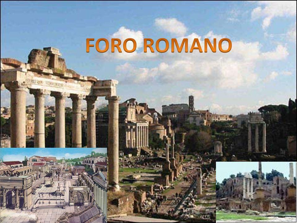 Il Foro Romano (Forum Romanum, sebbene i Romani si riferissero ad esso più spesso come Forum Magnum o semplicemente Forum) era situato nella valle compresa tra il Palatino ed il Campidoglio e costituì il centro commerciale, religioso e politico della città di Roma.