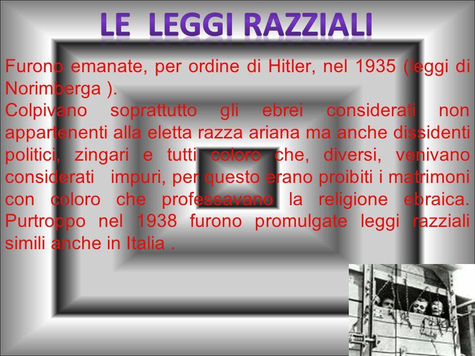 In Europa, durante gli anni del potere nazista il clima sociale e umano fu avvelenato dalla atroce discriminazione nei confronti degli ebrei e verso l