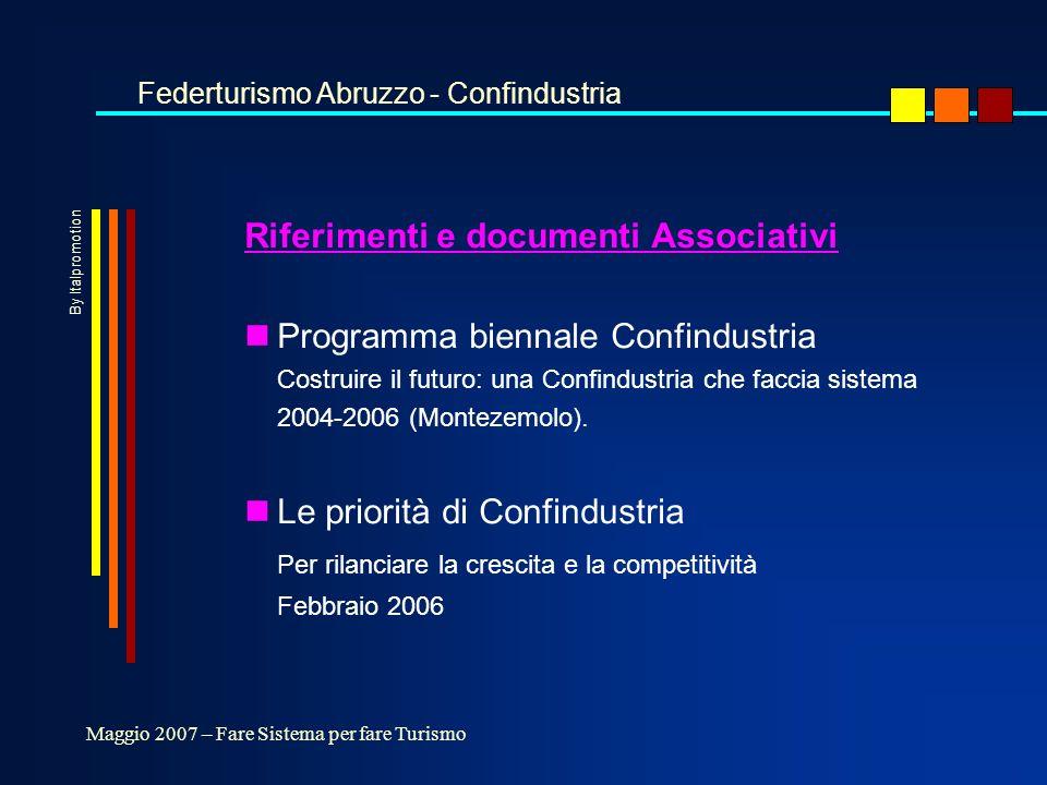 Riferimenti e documenti Associativi nProgramma biennale Confindustria Costruire il futuro: una Confindustria che faccia sistema 2004-2006 (Montezemolo).