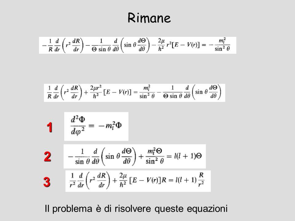 Rimane Il problema è di risolvere queste equazioni 3 2 1