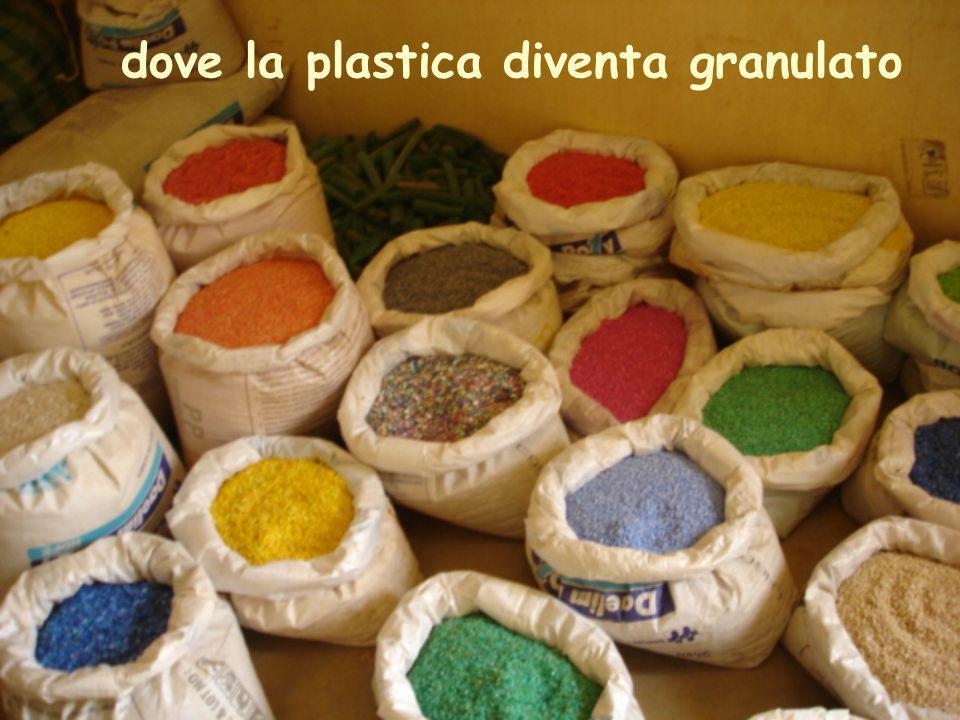 dove la plastica diventa granulato