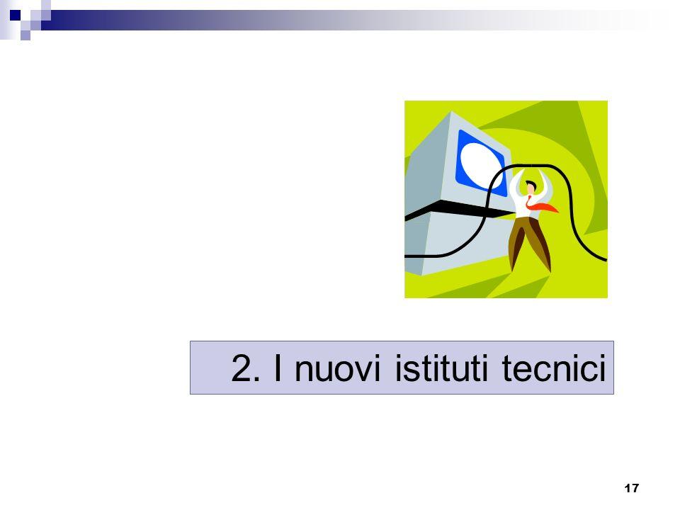 17 2. I nuovi istituti tecnici