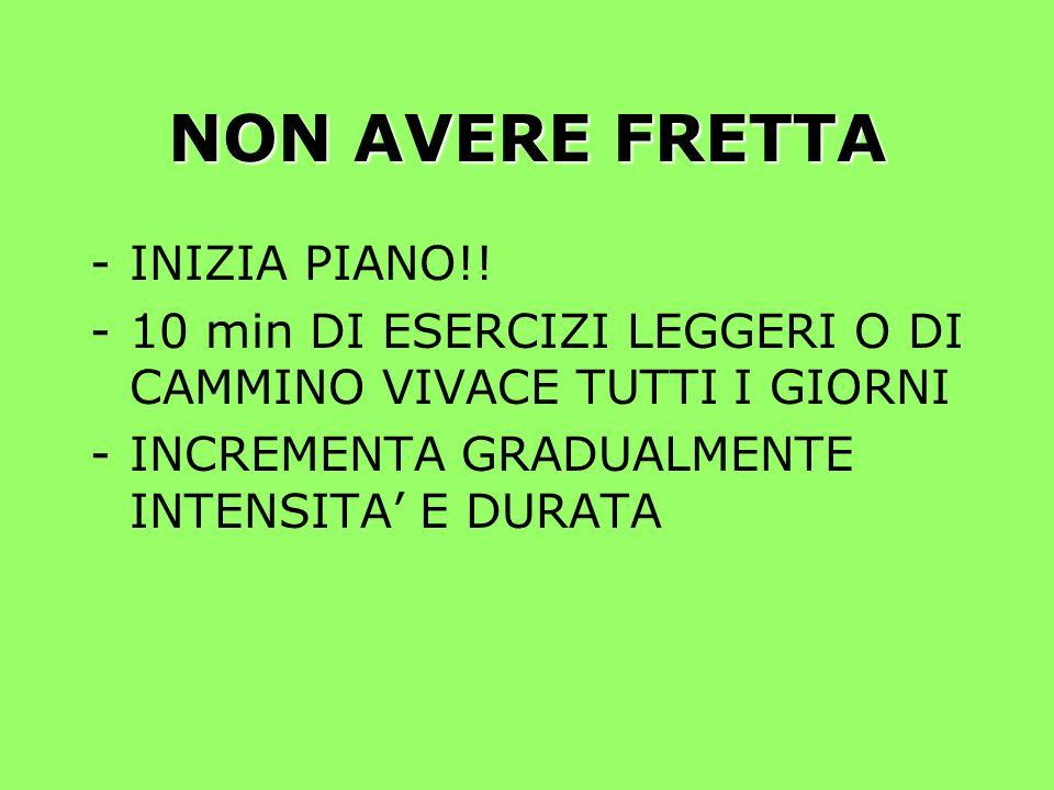 NON AVERE FRETTA -INIZIA PIANO!.