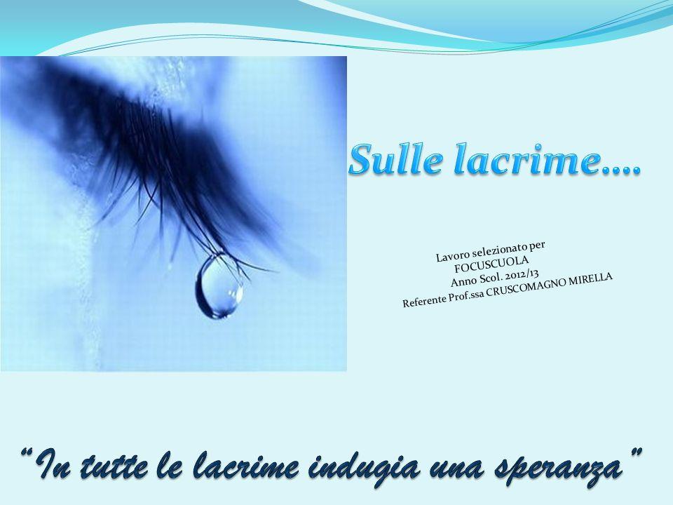 Lavoro selezionato per FOCUSCUOLA Anno Scol. 2012/13 Referente Prof.ssa CRUSCOMAGNO MIRELLA