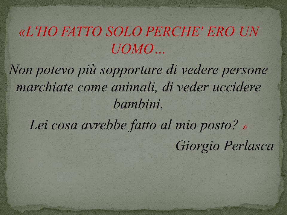 La vita Giorgio Perlasca nasce a Como il 31 gennaio 1910.