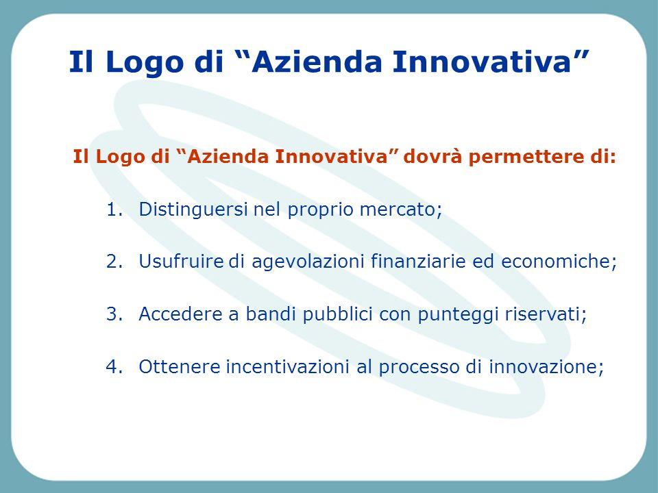 Pescara, Venerdì 2 aprile 2004 Il Logo di Azienda Innovativa Il Logo di Azienda Innovativa dovrà permettere di: 1.Distinguersi nel proprio mercato; 2.Usufruire di agevolazioni finanziarie ed economiche; 3.Accedere a bandi pubblici con punteggi riservati; 4.Ottenere incentivazioni al processo di innovazione;