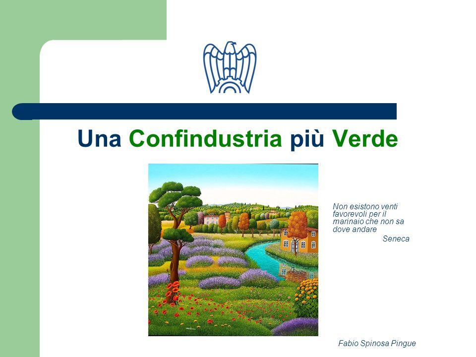Fabio Spinosa Pingue Considerazioni base Confindustria rispetta la vocazione del territorio, da intendersi come linsieme delle risorse naturali, ambientali, architettoniche e delluomo.