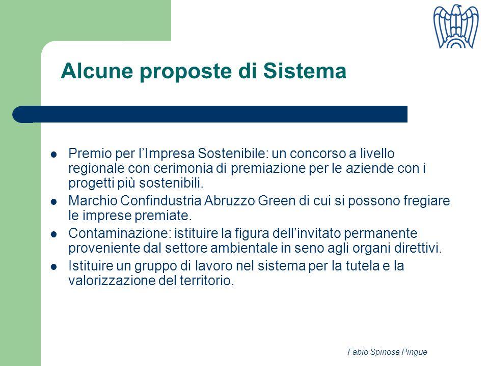 Fabio Spinosa Pingue Premio per lImpresa Sostenibile: un concorso a livello regionale con cerimonia di premiazione per le aziende con i progetti più sostenibili.