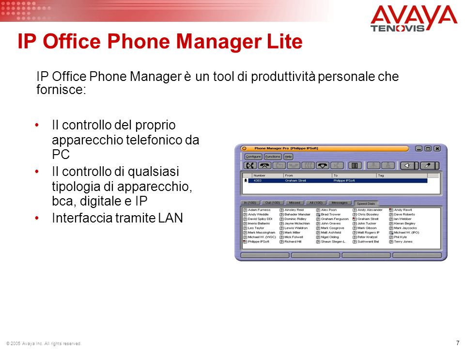 18 © 2005 Avaya Inc.All rights reserved.