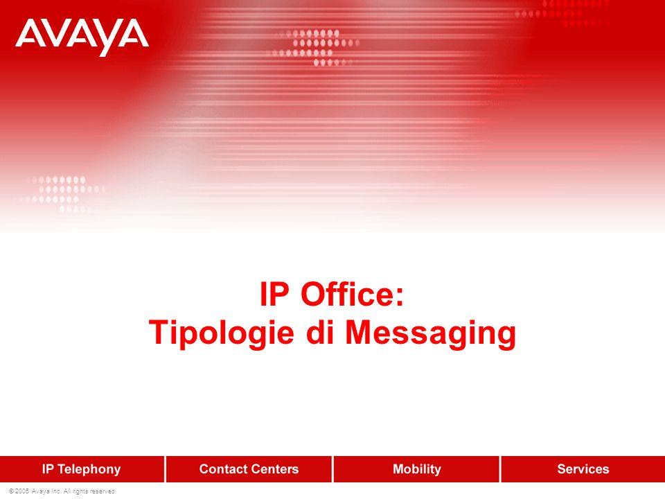 13 © 2005 Avaya Inc. All rights reserved. VM PRO – Gestione messaggi Servizio V.M. per tutti gli utenti e per tutti i gruppi 1 minuto di registrazione