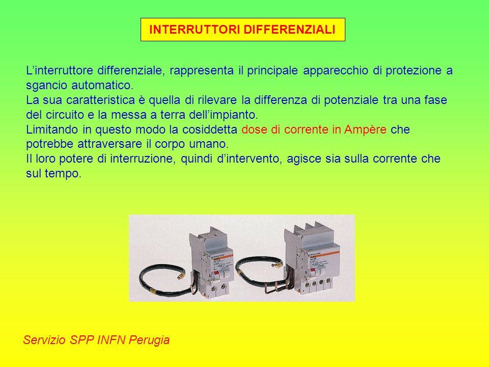 INTERRUTTORI DIFFERENZIALI Servizio SPP INFN Perugia Linterruttore differenziale, rappresenta il principale apparecchio di protezione a sgancio automa