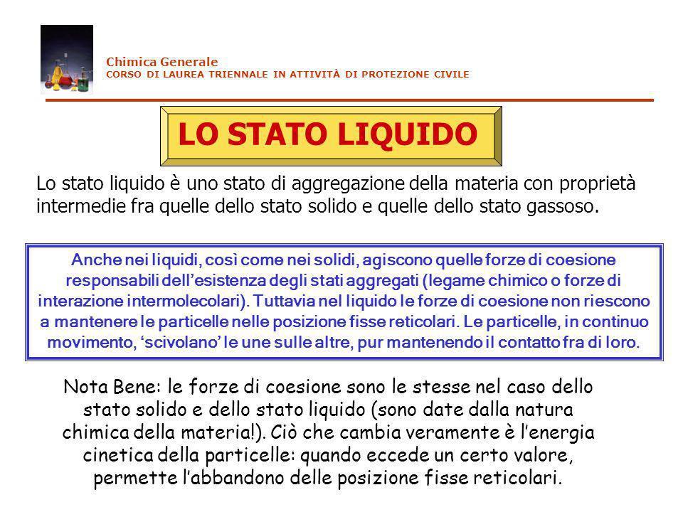 Non esistono modelli semplici per rappresentare la struttura dei liquidi.
