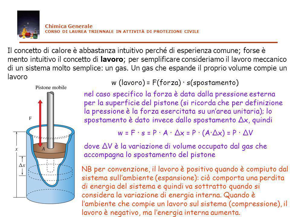 Il concetto di calore è abbastanza intuitivo perché di esperienza comune; forse è mento intuitivo il concetto di lavoro; per semplificare consideriamo