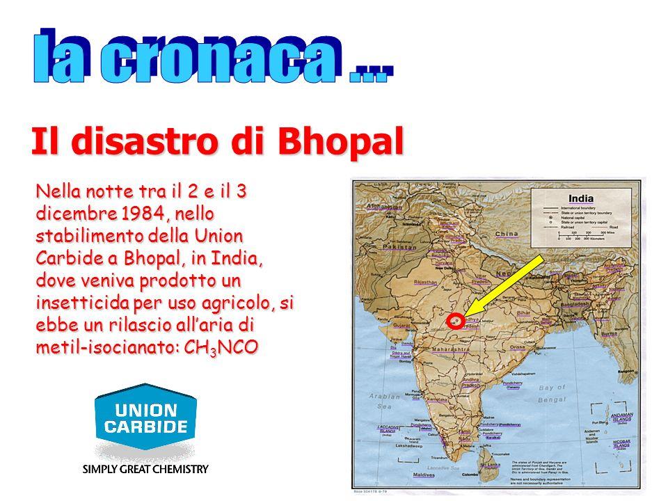 Nella notte tra il 2 e il 3 dicembre 1984, nello stabilimento della Union Carbide a Bhopal, in India, dove veniva prodotto un insetticida per uso agri