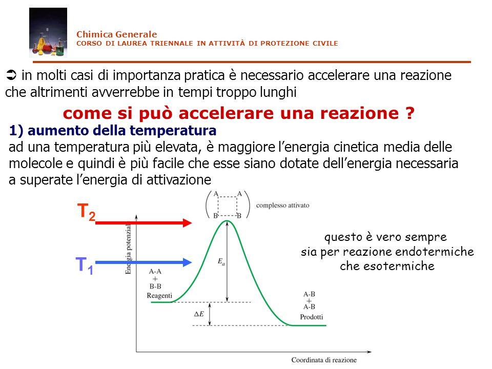 in molti casi di importanza pratica è necessario accelerare una reazione che altrimenti avverrebbe in tempi troppo lunghi come si può accelerare una r
