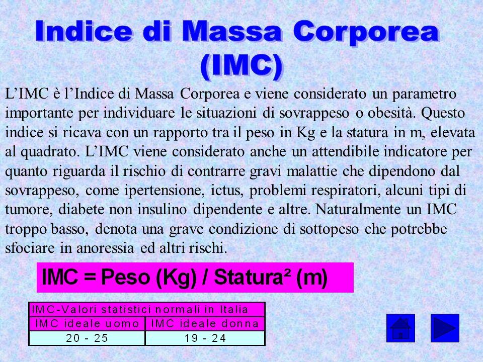 LIMC è lIndice di Massa Corporea e viene considerato un parametro importante per individuare le situazioni di sovrappeso o obesità. Questo indice si r
