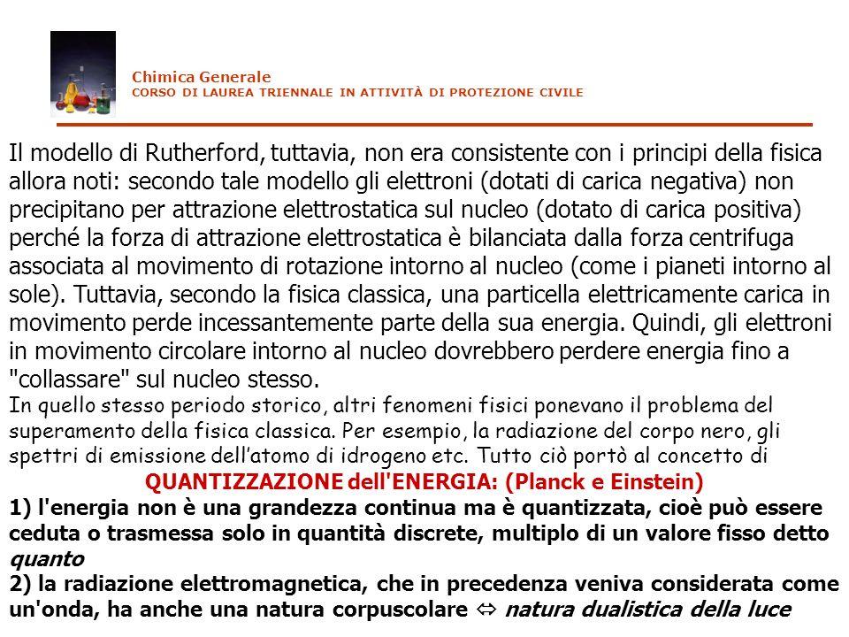 Il modello di Rutherford, tuttavia, non era consistente con i principi della fisica allora noti: secondo tale modello gli elettroni (dotati di carica