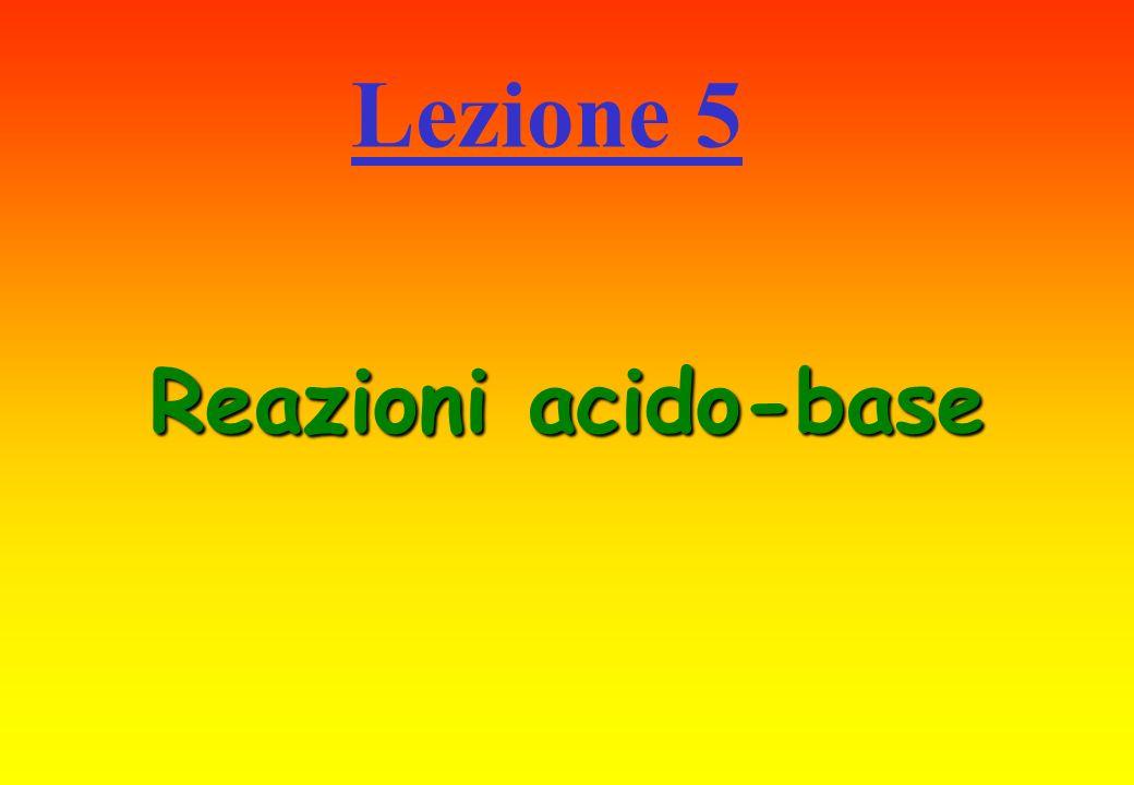 Reazioni acido-base Lezione 5