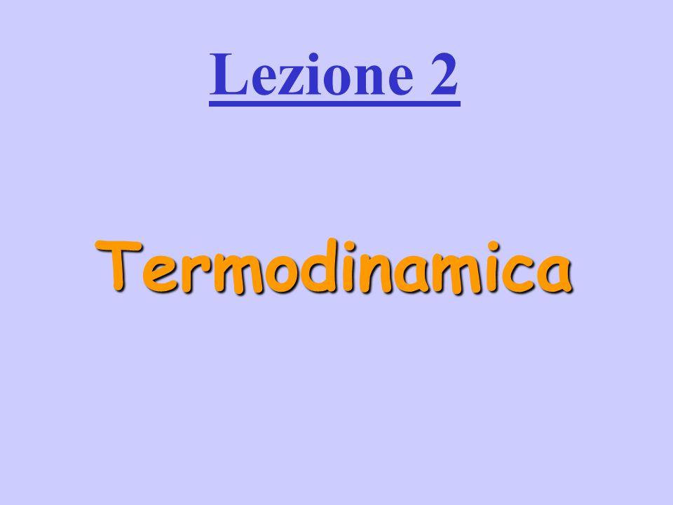 Termodinamica Lezione 2