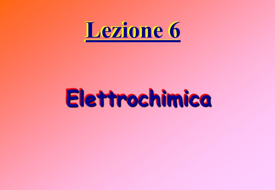 Lezione 6 Elettrochimica Elettrochimica