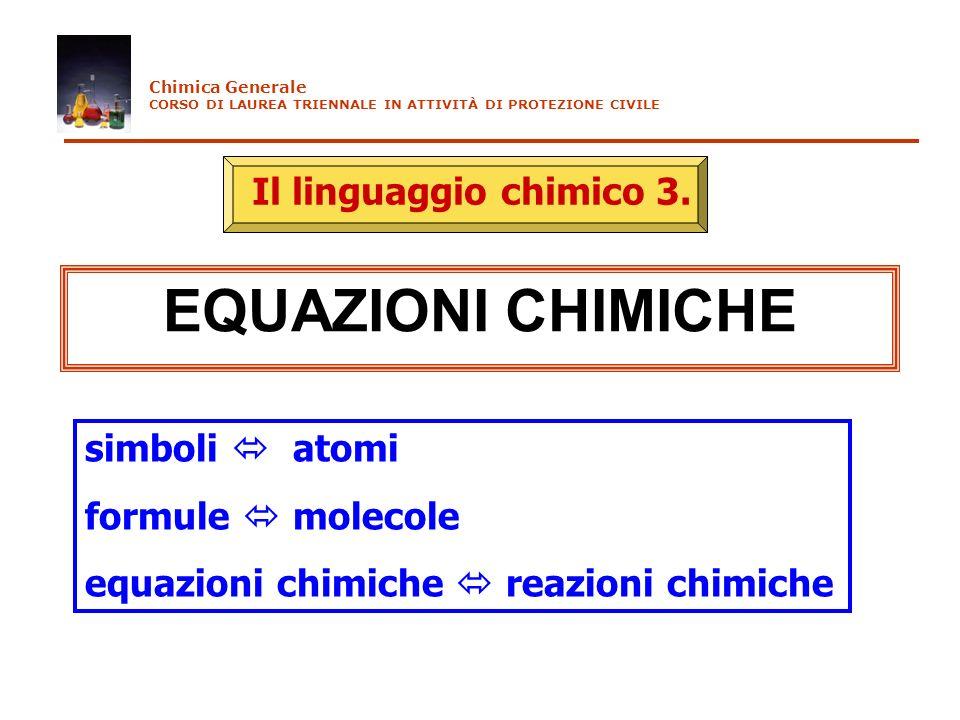 Leggi empiriche dei gas Legge di Boyle PV= cost (T costante) P (atm) 1/V (litri -1 ) P (atm) t ( C) P 0 C V (litri) t ( C) V 0 C Legge di Charles P t =P 0 C (1+ct)c=1/273 Legge di Gay-Lussac V t =V 0 C (1+ct) c=1/273 P=2 atm V=2 litri P=4 atm V=1 litro Chimica Generale CORSO DI LAUREA TRIENNALE IN ATTIVITÀ DI PROTEZIONE CIVILE