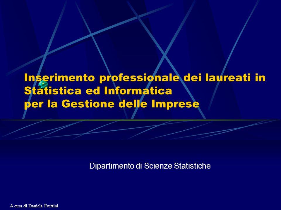 Inserimento professionale dei laureati in Statistica ed Informatica per la Gestione delle Imprese Dipartimento di Scienze Statistiche A cura di Daniela Fruttini