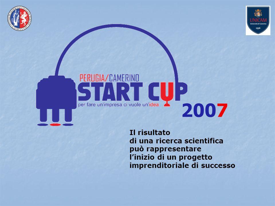 Il risultato di una ricerca scientifica può rappresentare linizio di un progetto imprenditoriale di successo 2007