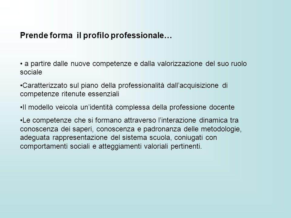 Prende forma il profilo professionale… a partire dalle nuove competenze e dalla valorizzazione del suo ruolo sociale Caratterizzato sul piano della pr