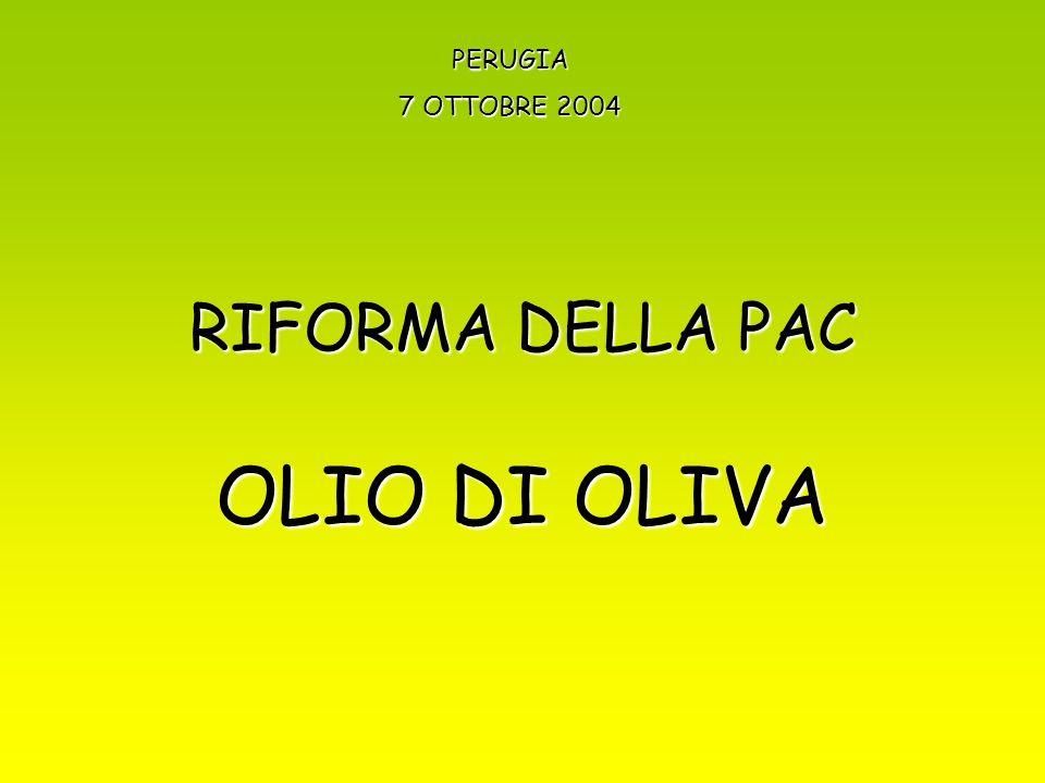 RIFORMA DELLA PAC OLIO DI OLIVA PERUGIA 7 OTTOBRE 2004