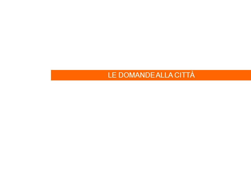 18 LE DOMANDE ALLA CITTÀ