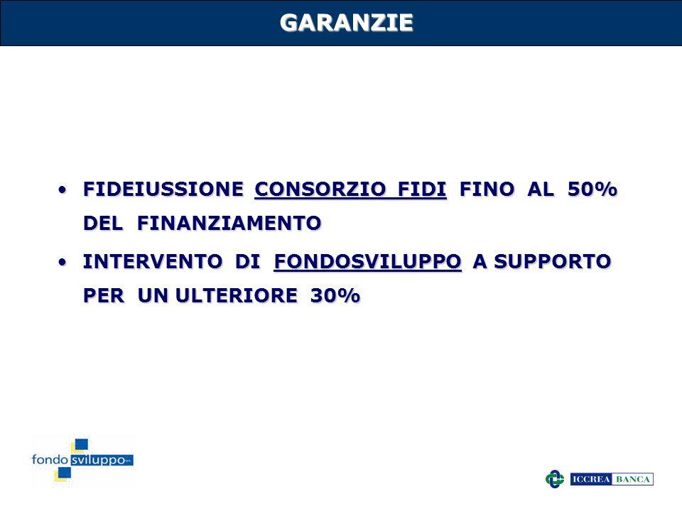 14 GARANZIE FIDEIUSSIONE CONSORZIO FIDI FINO AL 50% DEL FINANZIAMENTOFIDEIUSSIONE CONSORZIO FIDI FINO AL 50% DEL FINANZIAMENTO INTERVENTO DI FONDOSVIL