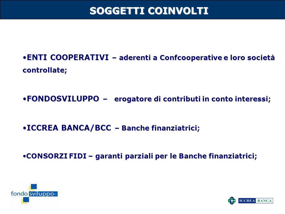 34 SOGGETTI COINVOLTI ENTI COOPERATIVI – aderenti a Confcooperative e loro società controllate;ENTI COOPERATIVI – aderenti a Confcooperative e loro so