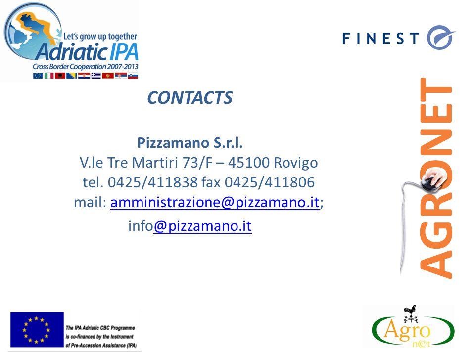 CONTACTS Pizzamano S.r.l. V.le Tre Martiri 73/F – 45100 Rovigo tel.