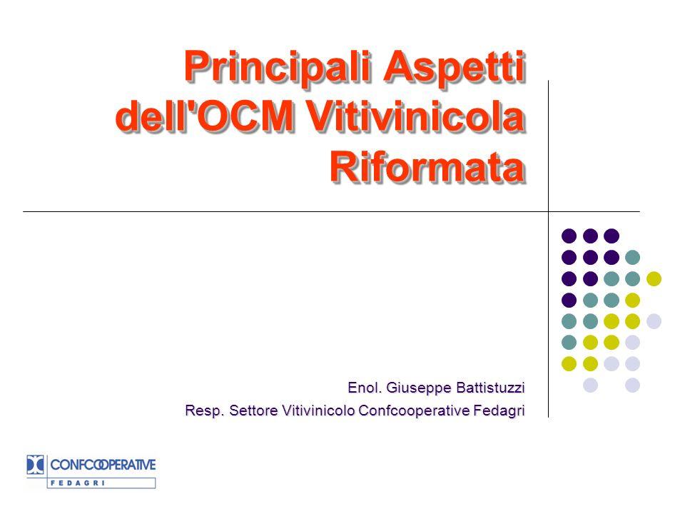 Principali Aspetti dell OCM Vitivinicola Riformata Enol.