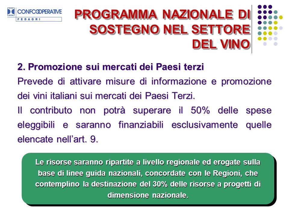 PROGRAMMA NAZIONALE DI SOSTEGNO NEL SETTORE DEL VINO 2.
