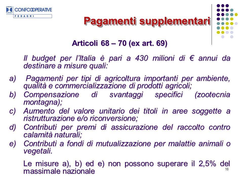 18 Articoli 68 – 70 (ex art.