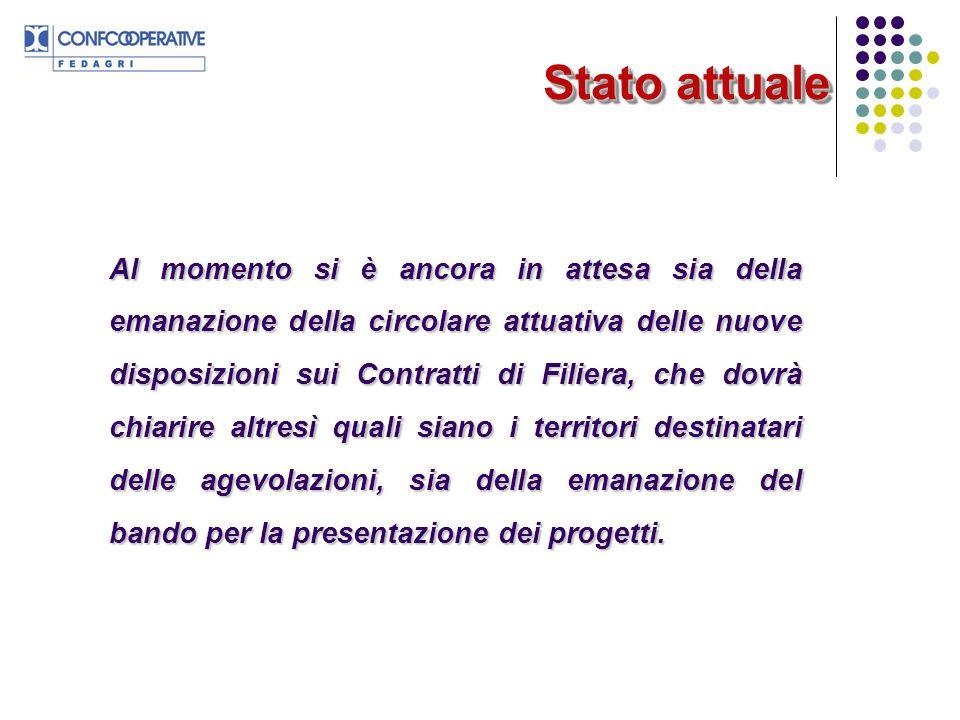 Stato attuale Stato attuale Al momento si è ancora in attesa sia della emanazione della circolare attuativa delle nuove disposizioni sui Contratti di