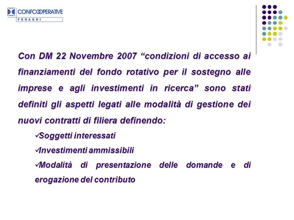 Con DM 22 Novembre 2007 condizioni di accesso ai finanziamenti del fondo rotativo per il sostegno alle imprese e agli investimenti in ricerca sono sta