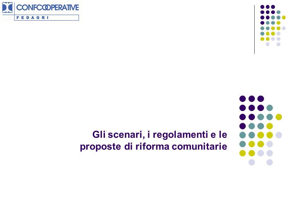 Gli scenari, i regolamenti e le proposte di riforma comunitarie