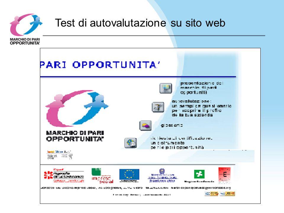 Test di autovalutazione su sito web