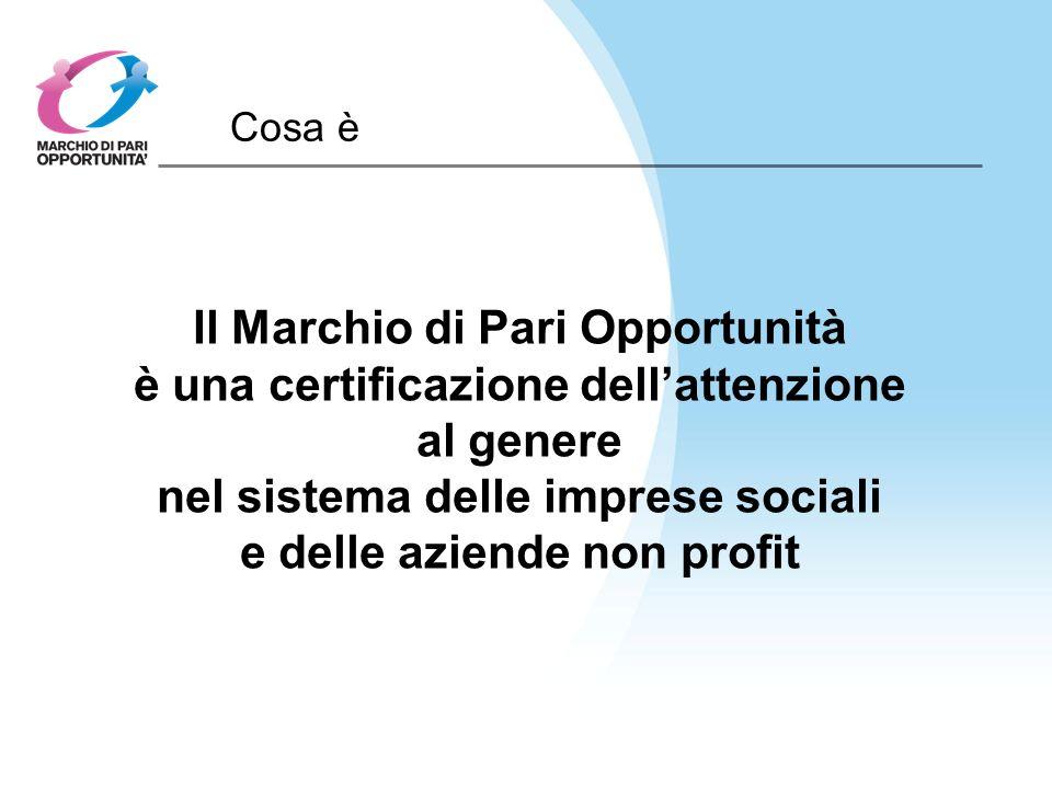Cosa è Il Marchio di Pari Opportunità è una certificazione dellattenzione al genere nel sistema delle imprese sociali e delle aziende non profit