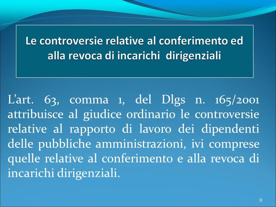 Lart. 63, comma 1, del Dlgs n.