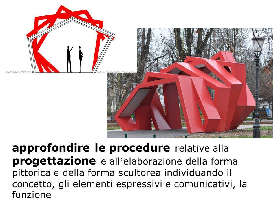 approfondire le procedure relative alla progettazione e all elaborazione della forma pittorica e della forma scultorea individuando il concetto, gli e