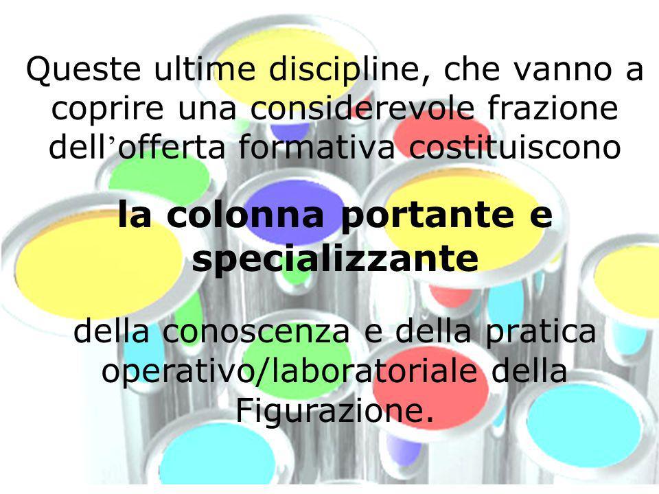 Queste ultime discipline, che vanno a coprire una considerevole frazione dell offerta formativa costituiscono la colonna portante e specializzante del