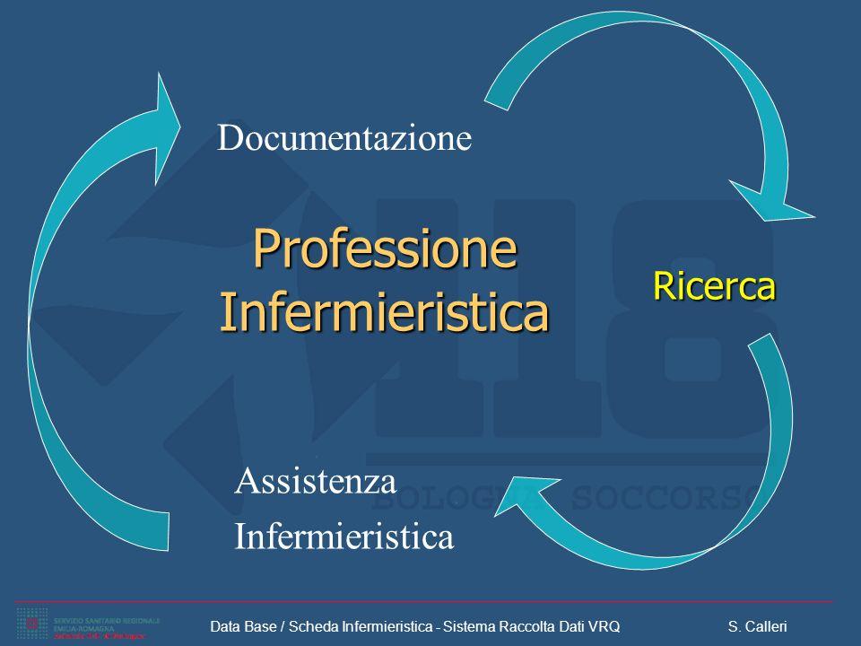 Data Base / Scheda Infermieristica - Sistema Raccolta Dati VRQ S. Calleri Professione Infermieristica Ricerca Documentazione Assistenza Infermieristic