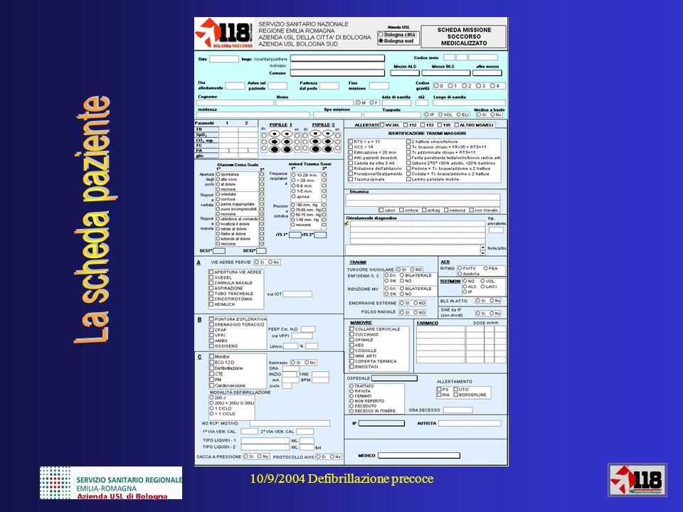 10/9/2004 Defibrillazione precoce Ipotesi per eventuali soluzioni?