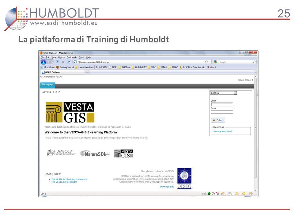 25 La piattaforma di Training di Humboldt