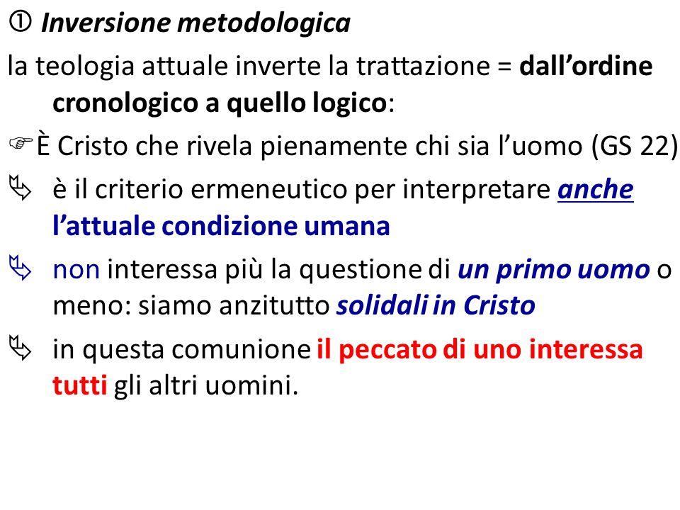 Inversione metodologica la teologia attuale inverte la trattazione = dallordine cronologico a quello logico: È Cristo che rivela pienamente chi sia lu