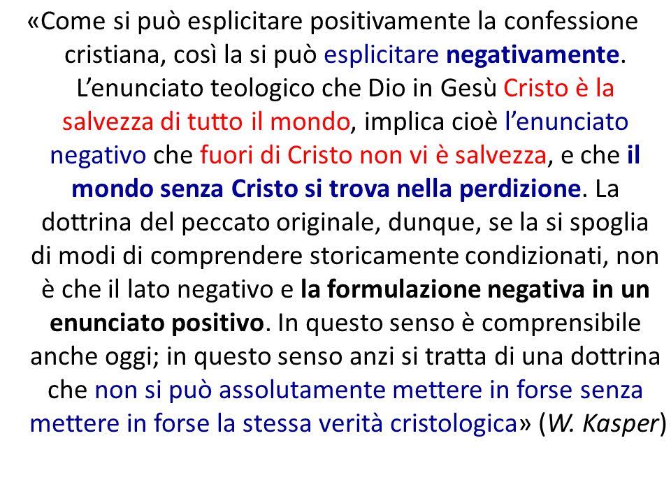 «Come si può esplicitare positivamente la confessione cristiana, così la si può esplicitare negativamente. Lenunciato teologico che Dio in Gesù Cristo