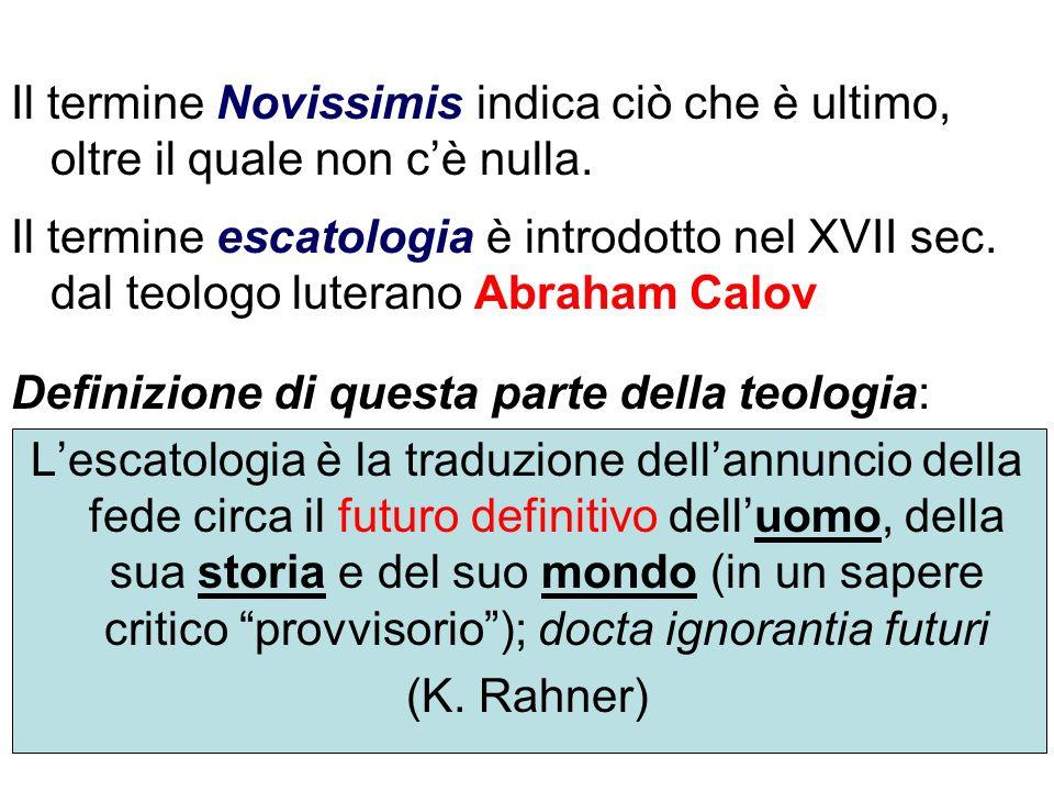 Gli elementi sintetici che si colgono nellescatologia cattolica sono: un ritorno al centro del mistero: Cristo Egli è la persona ultima e gli eschata sono riferiti a lui.
